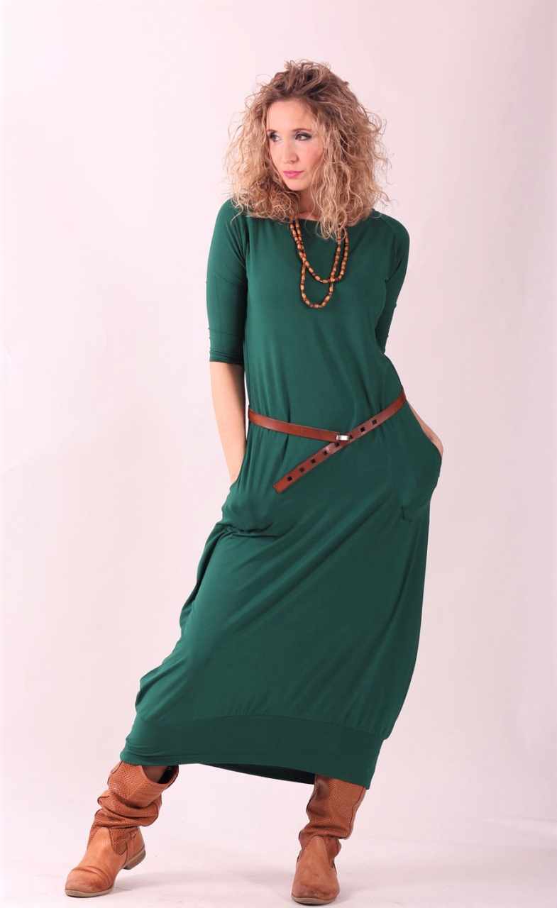 Šaty s balonovou sukní zelené dlouhé ... 4c50c7bf2c9