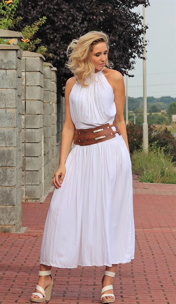 Šaty na ramínka letní bílé ... 9ff9a2aa15