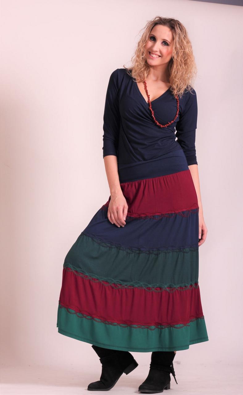 46d50a2d0da Sukně s kanýry barevná dlouhá ...